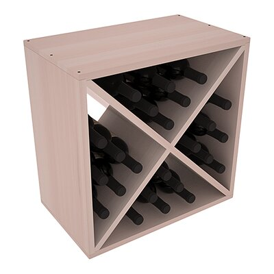 Karnes Redwood X-Cube 24 Bottle Tabletop Wine Rack Finish: Gray Satin