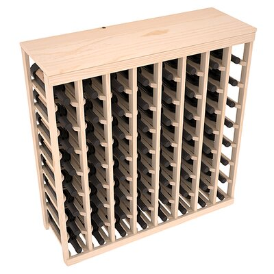 Karnes Pine 64 Bottle Floor Wine Rack Finish: Natural
