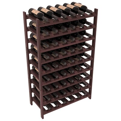 Karnes Redwood Stackable 54 Bottle Floor Wine Rack Finish: Walnut Satin