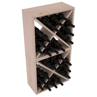 Karnes Pine Rustic Cube 48 Bottle Floor Wine Rack Finish: Gray Satin