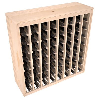 Karnes Pine Deluxe 64 Bottle Floor Wine Rack Finish: Natural