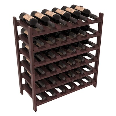 Karnes Redwood Stackable 36 Bottle Floor Wine Rack Finish: Walnut Satin