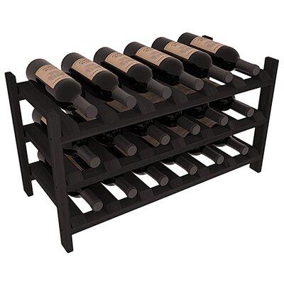 Karnes Redwood Stackable 18 Bottle Tabletop Wine Rack Finish: Black