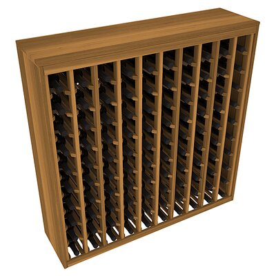 Karnes Redwood Deluxe 100 Bottle Floor Wine Rack Finish: Oak