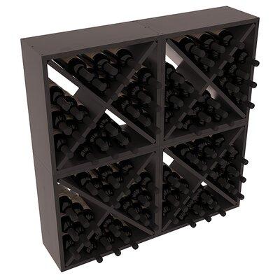 Karnes Pine Rustic Cube 96 Bottle Floor Wine Rack Finish: Black Satin