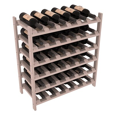 Karnes Redwood Stackable 36 Bottle Floor Wine Rack Finish: Gray Satin