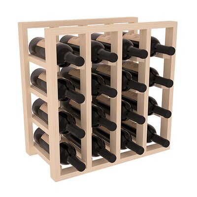 Karnes Pine Lattice 16 Bottle Tabletop Wine Rack Finish: Natural