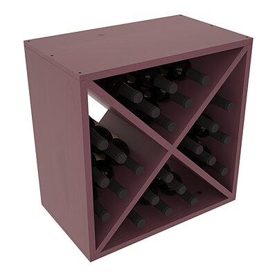Karnes Pine X-Cube 24 Bottle Tabletop Wine Rack Finish: Burgundy Satin