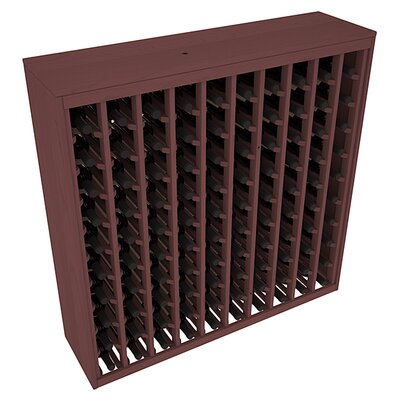 Karnes Pine Deluxe 100 Bottle Floor Wine Rack Finish: Walnut