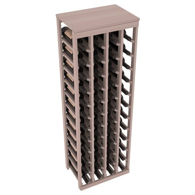 Karnes Redwood Table Top 48 Bottle Floor Wine Rack Finish: Gray Satin