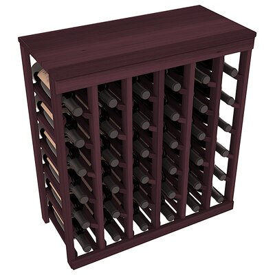 Karnes Redwood Table Top 36 Bottle Floor Wine Rack Finish: Burgundy