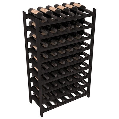 Karnes Redwood Stackable 54 Bottle Floor Wine Rack Finish: Black