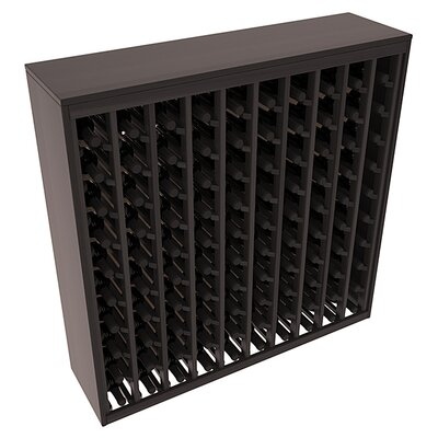 Karnes Redwood Deluxe 100 Bottle Floor Wine Rack Finish: Black Satin