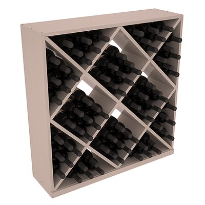 Karnes Pine Diamond Cube 82 Bottle Floor Wine Rack Finish: Gray Satin