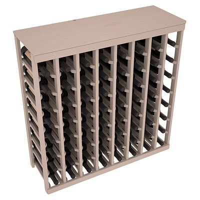 Karnes Pine 64 Bottle Floor Wine Rack Finish: Gray