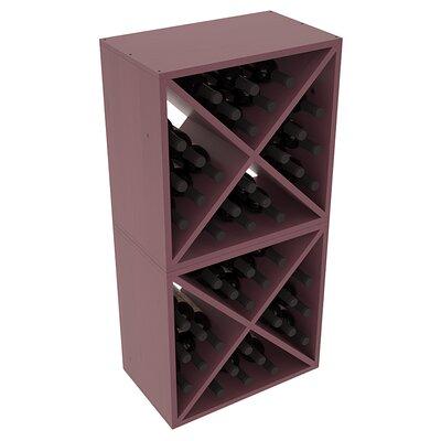 Karnes Pine X-Cube 48 Bottle Floor Wine Rack Finish: Burgundy Satin