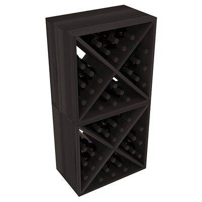 Karnes Redwood X-Cube 48 Bottle Floor Wine Rack Finish: Black