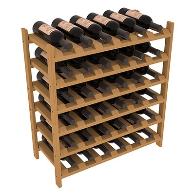 Karnes Pine Stackable 36 Bottle Floor Wine Rack Finish: Oak
