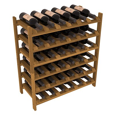 Karnes Redwood Stackable 36 Bottle Floor Wine Rack Finish: Oak
