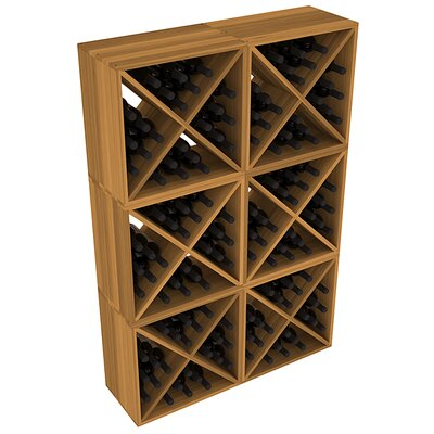 Karnes Redwood X-Cube 144 Bottle Floor Wine Rack Finish: Oak