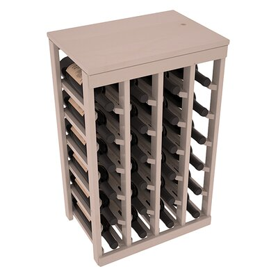 Karnes Pine 24 Bottle Floor Wine Rack Finish: Gray Satin