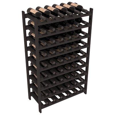 Karnes Pine Stackable 54 Bottle Floor Wine Rack Finish: Black