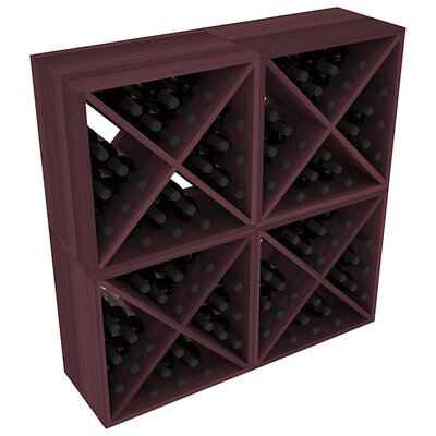 Karnes Redwood X-Cube 96 Bottle Floor Wine Rack Finish: Burgundy