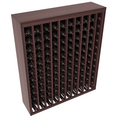 Karnes Redwood Deluxe 120 Bottle Floor Wine Rack Finish: Walnut Satin