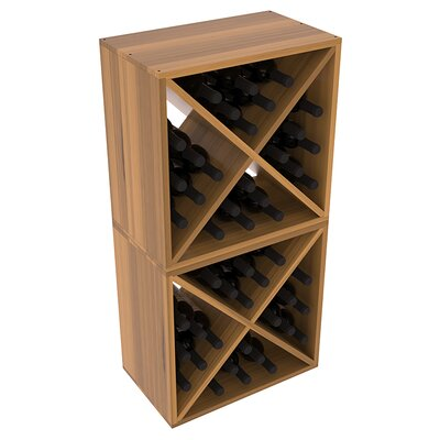 Karnes Redwood X-Cube 48 Bottle Floor Wine Rack Finish: Oak Satin