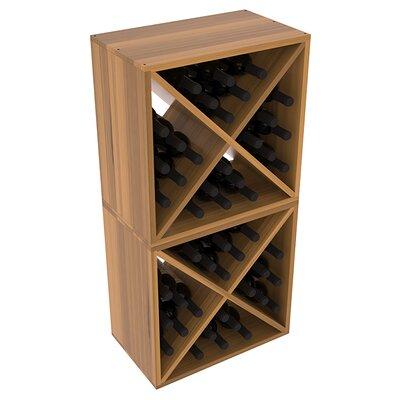 Karnes Redwood X-Cube 48 Bottle Floor Wine Rack Finish: Oak Satin