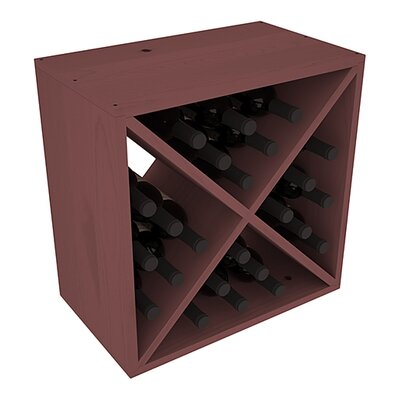 Karnes Pine X-Cube 24 Bottle Tabletop Wine Rack Finish: Walnut
