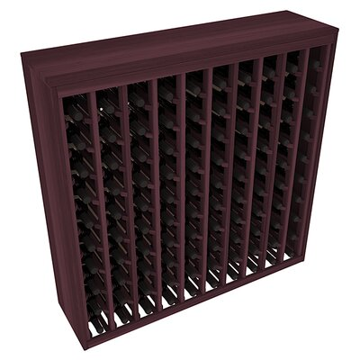 Karnes Redwood Deluxe 100 Bottle Floor Wine Rack Finish: Burgundy