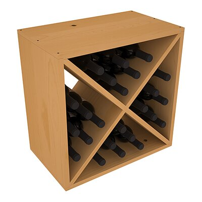 Karnes Pine X-Cube 24 Bottle Tabletop Wine Rack Finish: Oak