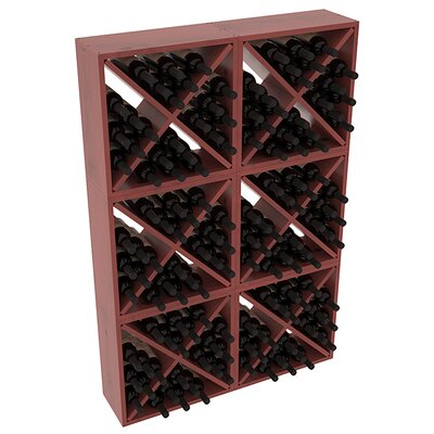 Karnes Pine Rustic Cube 144 Bottle Floor Wine Rack Finish: Cherry Satin