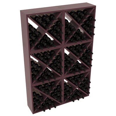 Karnes Pine Rustic Cube 144 Bottle Floor Wine Rack Finish: Burgundy Satin
