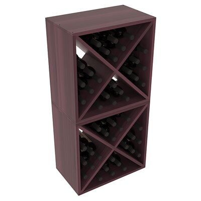 Karnes Redwood X-Cube 48 Bottle Floor Wine Rack Finish: Burgundy Satin