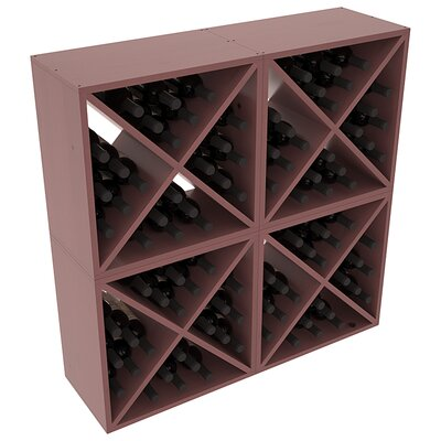 Karnes Pine X-Cube 96 Bottle Floor Wine Rack Finish: Walnut Satin
