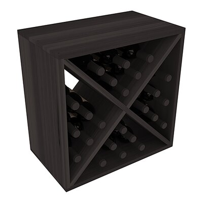 Karnes Redwood X-Cube 24 Bottle Tabletop Wine Rack Finish: Black