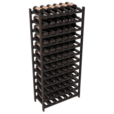 Karnes Redwood Stackable 72 Bottle Floor Wine Rack Finish: Black Satin