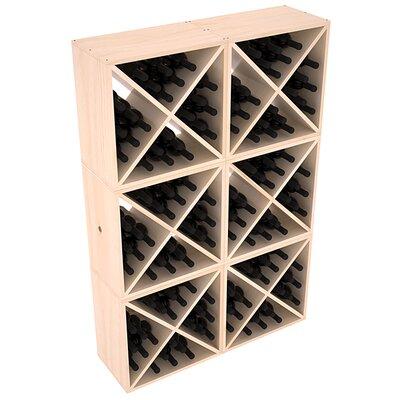 Karnes Pine X-Cube 144 Bottle Floor Wine Rack Finish: Natural Satin