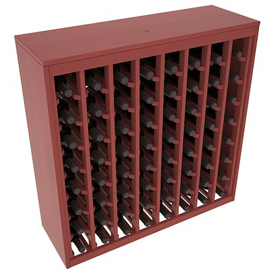 Karnes Pine Deluxe 64 Bottle Floor Wine Rack Finish: Cherry Satin