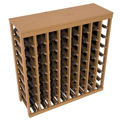 Karnes Pine 64 Bottle Floor Wine Rack Finish: Oak Satin