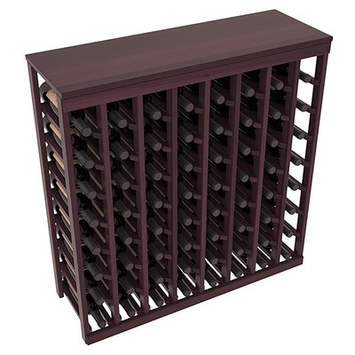 Karnes Redwood Table Top 64 Bottle Floor Wine Rack Finish: Burgundy Satin