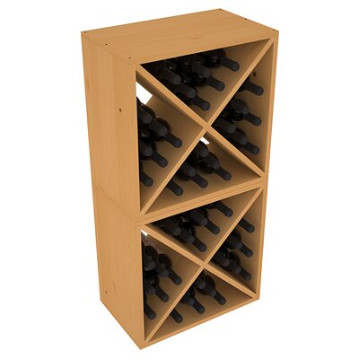 Karnes Pine X-Cube 48 Bottle Floor Wine Rack Finish: Oak