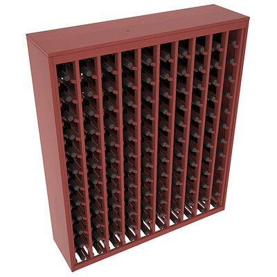Karnes Pine Deluxe 120 Bottle Floor Wine Rack Finish: Cherry Satin