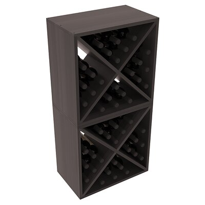 Karnes Redwood X-Cube 48 Bottle Floor Wine Rack Finish: Black Satin
