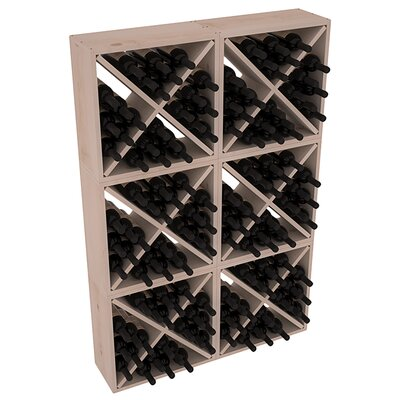 Karnes Pine Rustic Cube 144 Bottle Floor Wine Rack Finish: Gray