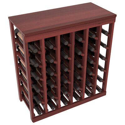 Karnes Redwood Table Top 36 Bottle Floor Wine Rack Finish: Cherry Satin