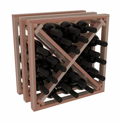 Karnes Redwood Lattice X-Cube 24 Bottle Tabletop Wine Rack Finish: Natural Satin