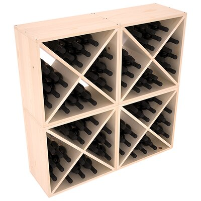 Karnes Pine X-Cube 96 Bottle Floor Wine Rack Finish: Natural Satin